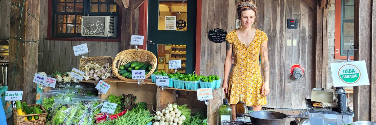 Fresh organic vegetables at Stonewall Farm Market