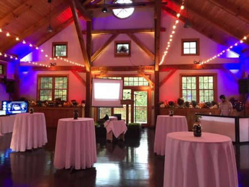 dining room set up for a dance