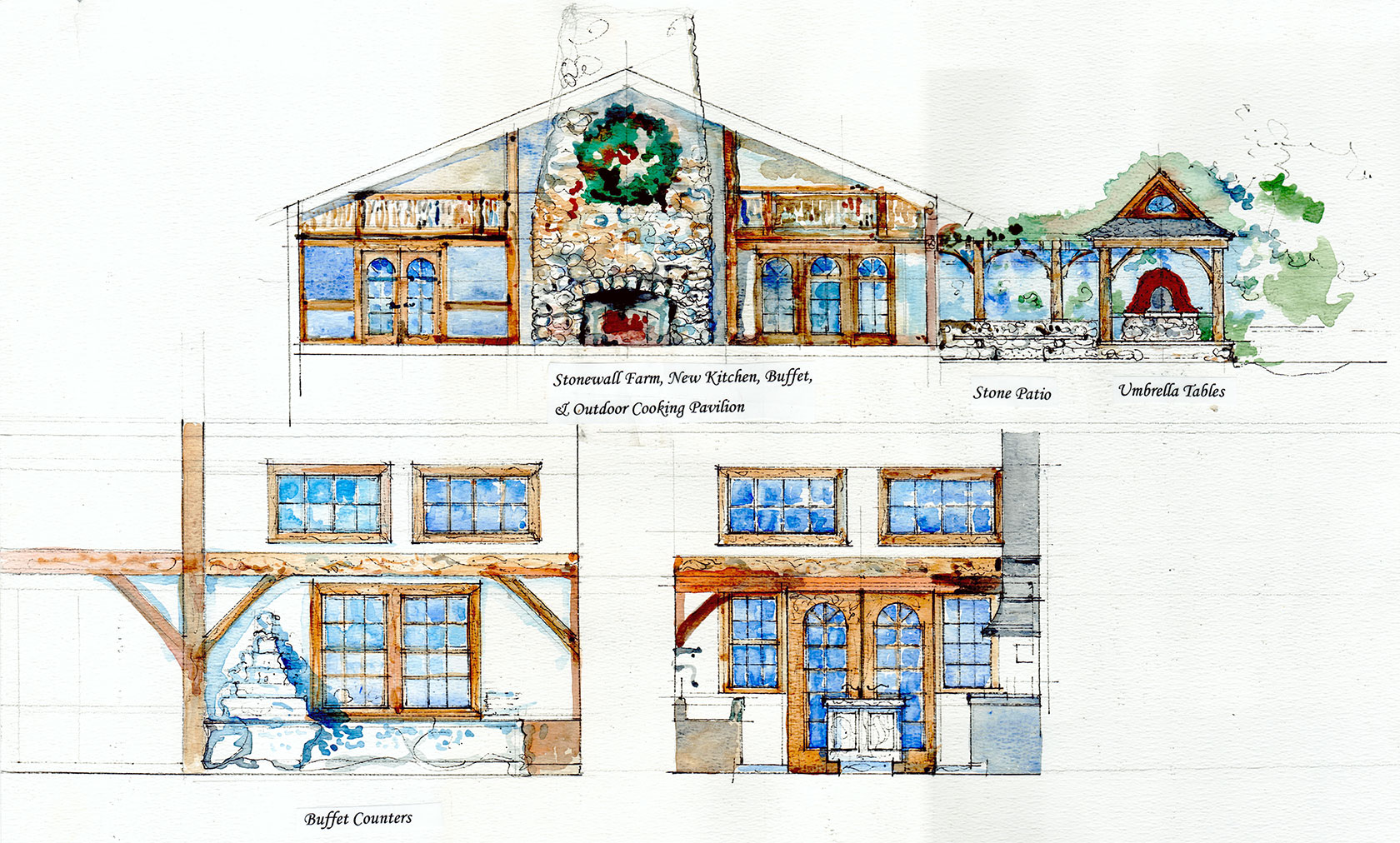 Stonewall farm architectural rendering